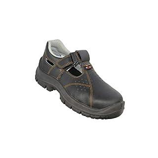 Almar Sandal S1 SRC Safety Shoes Work Shoes Sandal Black B-Stock, Size:37 EU