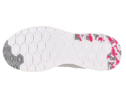 Nike Wmns Flex Experience Rn 4 Prem, Chaussures de Running Entrainement Femme, UK Blanco (White / Pink Blast-Wlf Gry-White)