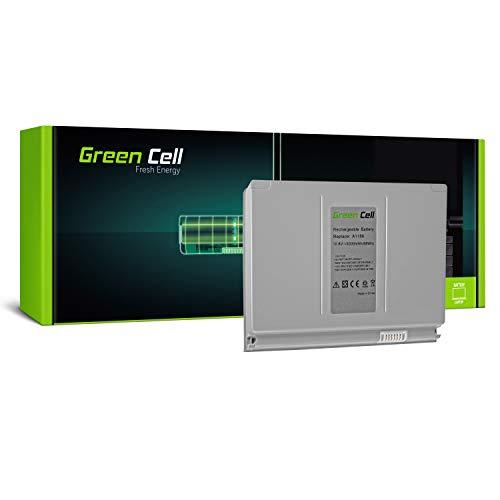 Green Cell® A1189 Laptop Akku für Apple MacBook Pro 17 A1151 A1212 A1229 A1261 2006-2008 (Li-Polymer Zellen 6300mAh 10.8V Silber) (Green Apple-laptop)