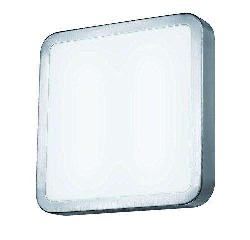 Quadratische Decke Diffusor (Exo Lighting Siker Deckenleuchte Lari ø45cms IP202GX131* 40W Blan Sockel, LED, satiniert, Alum.)