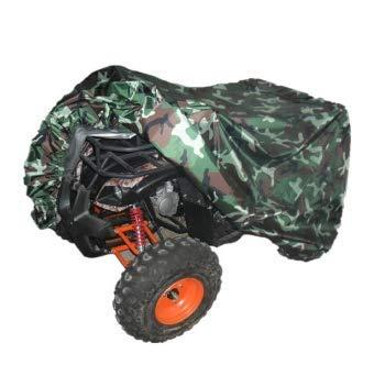 ~ ATV Copertura [210 X 120 X 115 Centimetri] Camouflage Impermeabile Poliestere 190T Protezione Cloth Quad 4 Veicolo A Quattro Ruote Shelter Acqua di Protezione Resistenti Top Coat Strato di