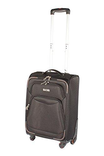 Super Leicht 4Rad Spinner Gepäck Koffer Reise Trolley Fällen Schwarz schwarz 20