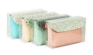 Diakakis 000582094 - Bolsa de cosméticos (20 x 40, 4 diseños), Multicolor
