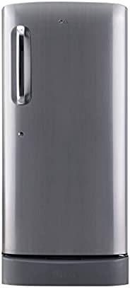 LG 190 L 5 Star Inverter Direct-Cool Single Door Refrigerator (GL-D201APZZ, Shiny Steel, Base stand with drawe