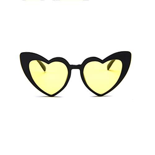 WQIANGHZI Damen Mode Katzenaugen Sonnenbrille,Retro Flache Gläser Sunglasses,Frauen Vintage...