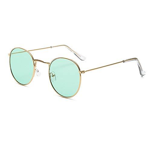QDE Sonnenbrillen Niedliche Retro Ovale Sonnenbrille Frauen Jahrgang Rundes Kleines Gesicht Sonnenbrille Weiblich Rosa Eyewear, B