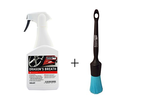 Price comparison product image 1piece ValetPro Dragon's Breath 500ml - RIM Pure + 1piece ValetPro Black Handle Chemical Resistant Cleaning Brush Removes Brake Dust and Dirt / Care / Rim Cleaning / Polishing / Canister / Rims / Alloy / Restoration / Special Cleaner / Wheel Cosmetics Made in UK / England / Air Vents / Interstices / Quality / Cleaning Brush / Accessories / New