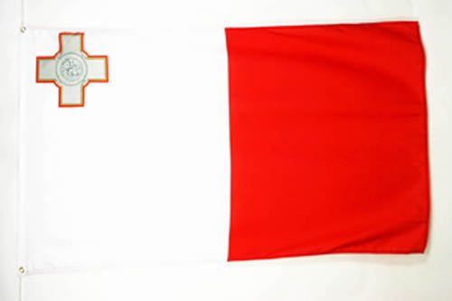 DRAPEAU MALTE 150x90cm - DRAPEAU MALTAIS 90 x 150 cm - DRAPEAUX - AZ FLAG