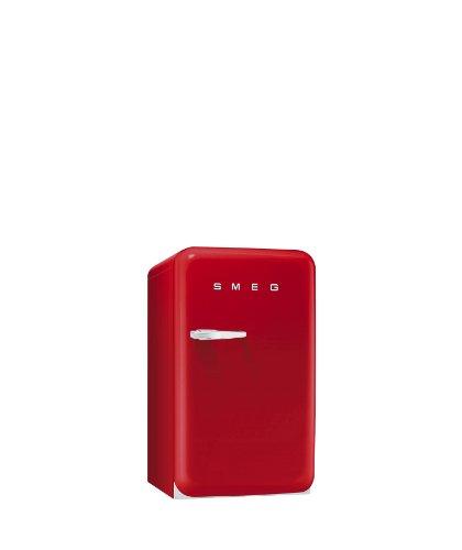 Smeg FAB10RR Standkühlschrank mit Gefrierfach / Rechtsanschlag / Kühlteil 101 Liter / Gefrierfach**** 13 Liter / rot