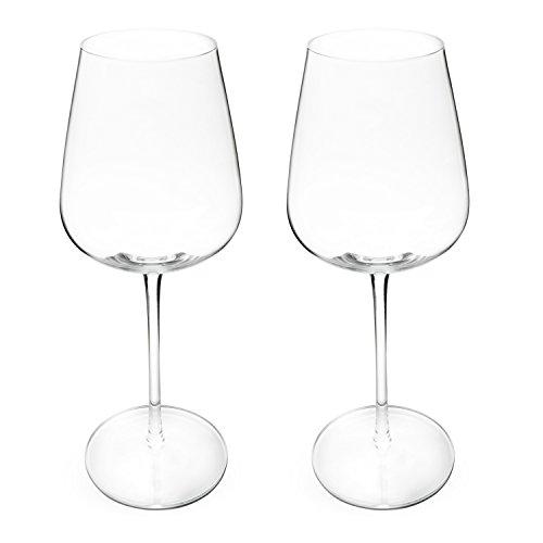 Incutex set de 2 grandes copas de vino sopladas a boca copas de vino gigantes XXL 700ml big wine glasses