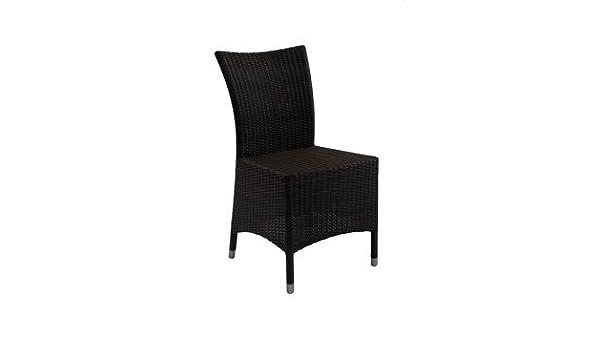 Delamaison - JKR010-3022 - Chaise DELFE alu/résine tressée VIRO ...