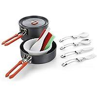 Olla para Camping Sartén para Camping Olla con batea para Camping Pot Filler 2 Ligero Mini