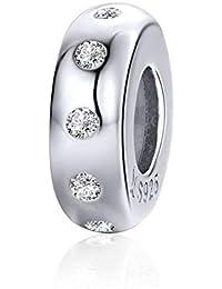 a98e9d100024 Abalorio espaciador de plata de ley 925 para pulsera Pandora B