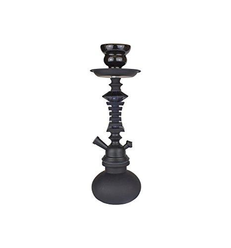 Paide Cachimba de diseño Premium - 27cm - Shisha Cristal - Kit de iniciación Premium Negro