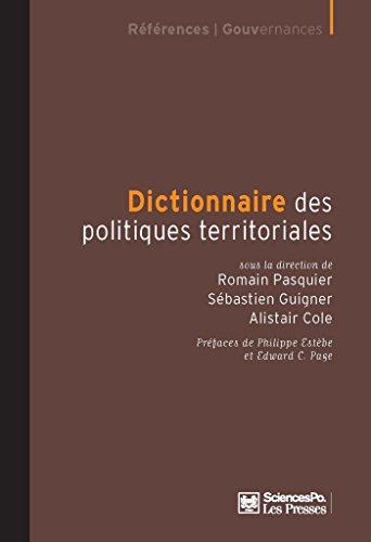 Dictionnaire des politiques territoriales par Alistair Cole