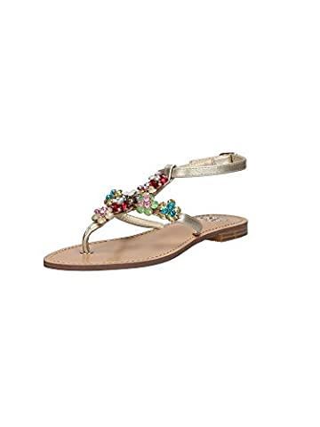 Guess Flles2 Fab21 Tongs femmes Or, Taille 40
