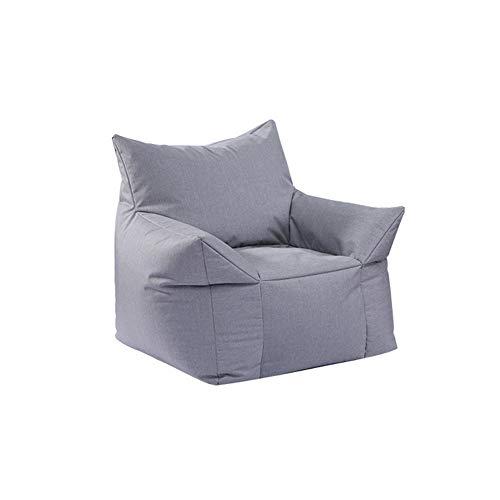 TX Lazy Sofa Schlafzimmer Single Small Sofa FußBall Sitzsack Sofa Stuhl Small Cute Balkon Recliner Landing Lounge Chair Lounge Chair,Gray