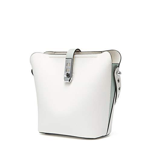 Houlingmei Bettbezug- Vielseitige Pendler-Eimer-Taschenfrau der weiblichen Beutelsommerhandtasche vielseitige vielseitige (Farbe : Weiß, größe : 22x26.5cm)
