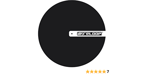 Black with Logo Reloop Slipmat for DJ Turntablism