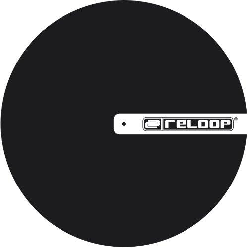 Reloop Slipmat für DJ (TURNTABLISM, schwarz mit Logo Logo Slip