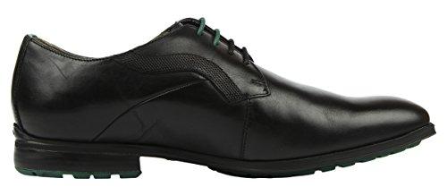 Clarks Gleeson Walk Herren Brogue Schnürhalbschuhe Schwarz (Black Leather)