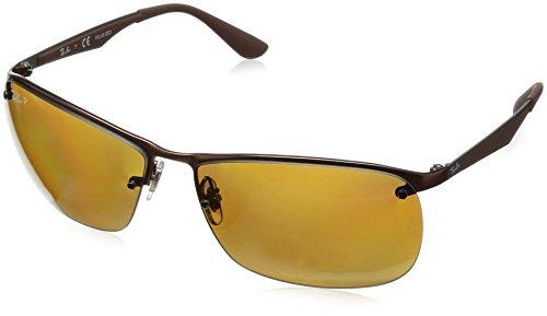 Ray Ban Unisex Sonnenbrille RB3550 Mehrfarbig (Gestell: matt Dunkelbraun,Gläser: polarisiert braun 012/83)), X-Large (Herstellergröße: 64)