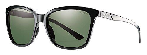 Smith Damen Colette/N L7 D28 55 Sonnenbrille, Schwarz (Shiny Black/Grey Grn Pz Cp),