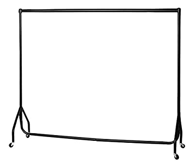 Heavy Duty Clothes Rail Garment Rail 6ft Long x 5ft High SUPERIOR QUALITY produced by The Shopfitting Shop - uk fast delivery