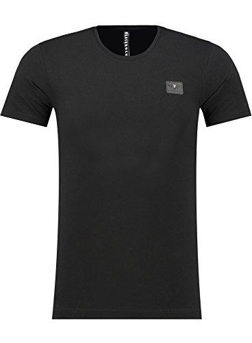 BlackRock Herren T-Shirt Slim Fit Totenkopf Skull Bones Adler - 71339 - BLACK L (Adler T-shirt)
