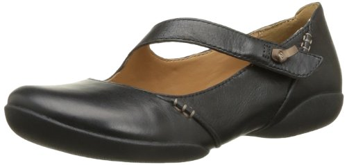 Clarks Felicia Plum, Damen Mokassin, Schwarz (Black Leather), 39.5 EU (6 Damen UK)