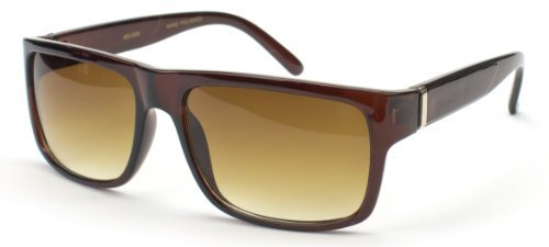 Kyra Herren flache Oberseite square Steigungsrahmen WOS s Super überdimensionalen Mode Sonnenbrillen Braun