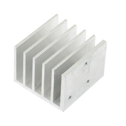 sourcingmap® Alluminio 40mm x 40mm x 30mm Dissipatore di calore Raffreddamento Cooler Pinna