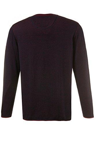 JP 1880 Herren große Größen | Pullover | 100 % Baumwolle | Sweater in blau & grün | Regular Fit | V-Ausschnitt & Langarm | Bis Größe 7 XL | 708269 Navy
