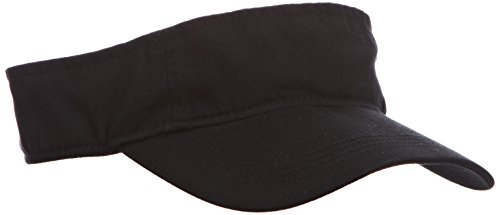 anvil Herren Low Profile Twill Visor / 158, Gr. one size, Schwarz (BLA-Black) (036 Schleife)