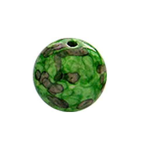 MagiDeal Pietre Pioggia Perline Palla Rotondo Sciolto Gioielli Fai Da Te Che Fanno Accessorio - 4/6/8/12/14mm - Verde, 4mm