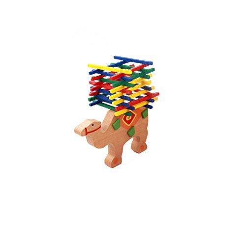 Geometrische Drei-licht-anhänger (Magic-Elefant Montessori Stapel Spielzeug aus Holz zum Geschicklichkeit lernen mit Stäbchen Bunt / Natur ab 5 Jahre für die frühe Motorik Entwicklung & Ausbildung Ihres Kindes (Kamel))