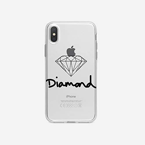 licaso Apple iPhone X Handyhülle Smartphone Apple Case aus TPU mit Diamond Jewel Print Motiv Slim Design Transparent Cover Schutz Hülle Protector Soft Aufdruck Lustig Funny Druck (Verlobungsring Protector)