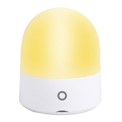 Baby Nachtlicht mit Berührungssensor, Augenfreundlich LED Nachtleuchte Dimmbares Stimmungslicht Schlummerleuchte mit USB Ladestation, RGB Farbwechsel Warmweiß für Kinderzimmer, Schlafzimmer