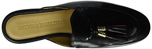 Melvin & Hamilton Damen Scarlett 2 Pantoletten Schwarz (Crust Black Tassel Blk-Red Acc Gold LS Blk)