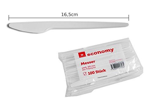 100 große weiße Einwegmesser - 165mm