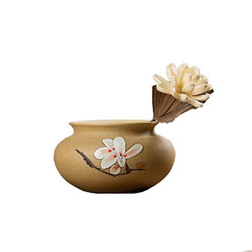 Meen Künstliche Blume, Hand Bemalt Keramik Große Vase Wohnzimmer Dekoration Home Weinschrank Getrocknete Blume Dekoration Dekoration (mit Vase)