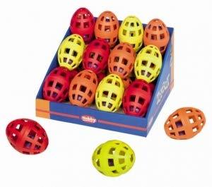 Nobby Vollgummi Spielzeug Football mit innenliegenden Ball und Glocke