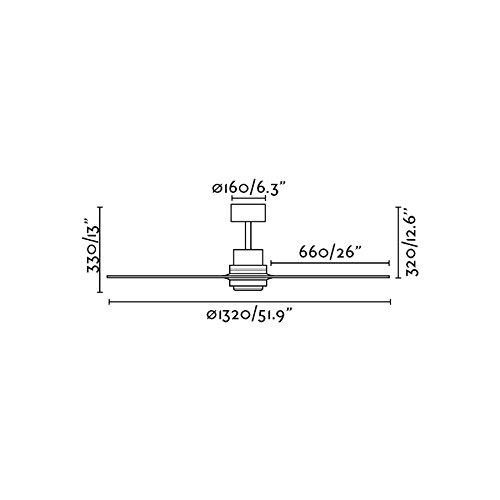 31EeY38o61L. SS500  - Faro 33373 - Lantau ø132 cm n/m 3 Pine Shovels