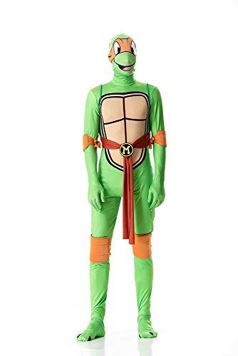 ZSDFGH Ninja Turtles Kostim Frau/Ninja Turtles Kostim Erwachsene/Ninja Turtles Kostüm/Karneval Kostüm,Orange-XL