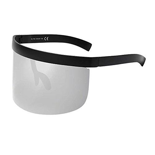 Magnetische Klappe (Mode Sunglasses ALIJEEY Unisex Vintage Sonnenbrille Retro Übergroßen Rahmen Hut Brillen Anti-Peeping Schutz für Golf,Autofahren,Outdoor Sport,Angeln)