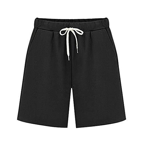 SHANFENGSHIYEJPSD Verkürzte Hosen Shorts Lose Beiläufige Mehrfarbige Shorts (S-8XL) Schwarz S -