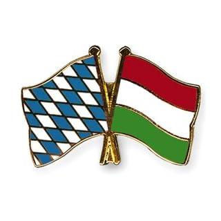 Yantec Freundschaftspin Bayern - Ungarn Pin Anstecknadel Doppelflaggenpin