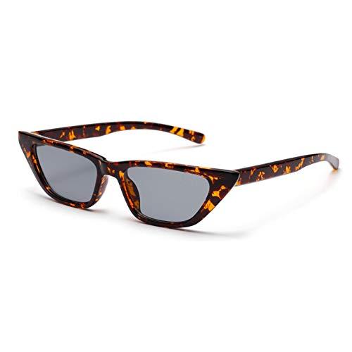 TYJYTM Kleine Sonnenbrille Frauen Cat Eye Vintage Retro Mode Frauen Cat Eye Sonnenbrille Uv400 Schwarz Leopard Rot