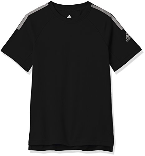 adidas Jungen Training Cool Kurzarm T-Shirt, Black, 176