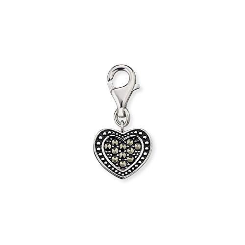Engelsrufer -Clasp Charms 925 Sterlingsilber Markasit ERC-HEART-MA (Armband Markasit)